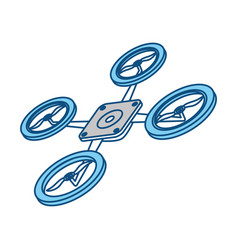 drone technology isolated vector image