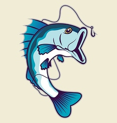 fishing mascot vector image