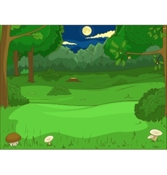 Forest cartoon educational game llustration vector image vector image