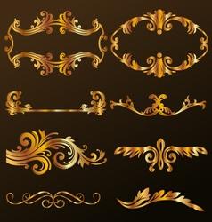 Gold Decorative Ornament vector image vector image