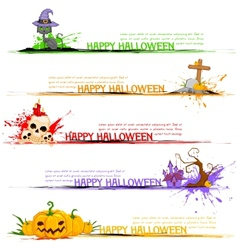 Happy Halloween Header vector image vector image