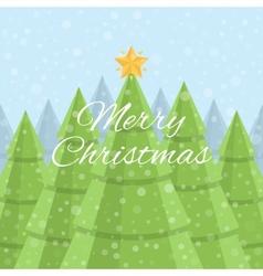 Merry Christmas Christmas card Daytime Christmas vector image vector image