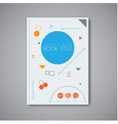 Modern abstract book design template vector
