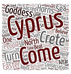 North cyprus alter at pighades text background vector