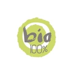 Percent Bio Food Label Design vector image vector image