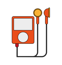 Portable digital music player icon image vector
