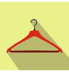 Red coat hanger flat icon vector image vector image