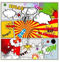 Retro Comic Book vector image