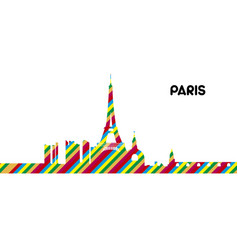 skyline of paris vector image vector image
