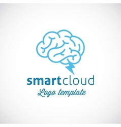 Smart cloud abstract logo template vector