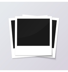 Stack of blank vintage paper photo frames from vector