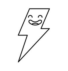 Thunder ray kawaii character vector