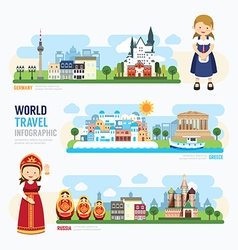 Travel and outdoor Europe Landmark Template Design vector image