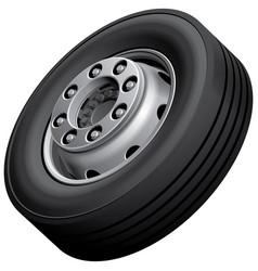Truck wheel isolated vector