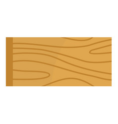 Wooden plank icon isolated vector