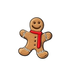 Traditional christmas gingerbread vector