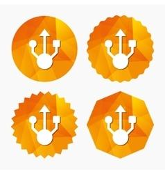 Usb sign icon usb flash drive symbol vector