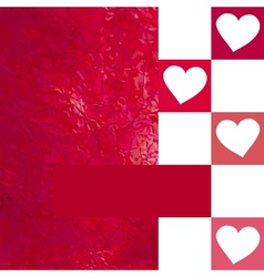 Overlapping heart shapes background EPS 8 vector image