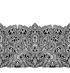 Indian ethnic seamless border with hand drawn vector