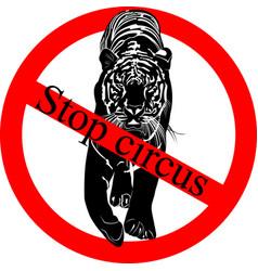 Stop circus vector