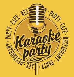 Banner with microphone for karaoke party vector