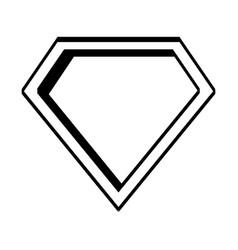 super hero shield pop art vector image