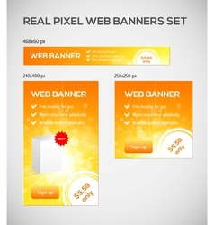 Standard size web banners set vector image