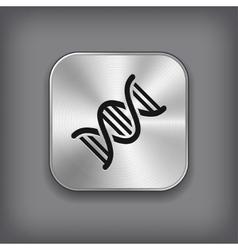 Dna icon - metal app button vector
