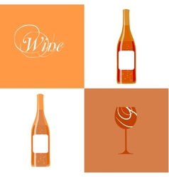 Wine bottle silhouette vector