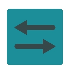 Arrows exchange horizontal flat soft blue colors vector