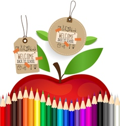 Welcome back to school sale coupon voucher and tag vector