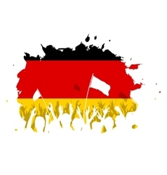 Celebrating crowd with german flag vector