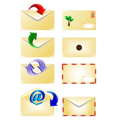 Email and arrow vector
