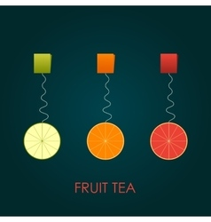 Abstract fruit tea lime orange grapfriut vector
