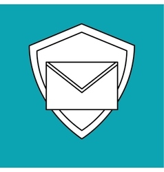 Email design envelope icon isolated vector