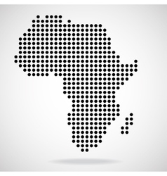 Abstract map of Africa from round dots vector image