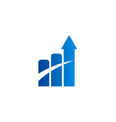 arrow business finance chart logo vector image