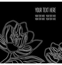 Back black 03 vector image vector image