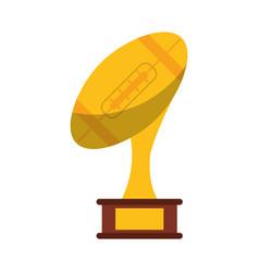 ball trophy shape american football award vector image vector image