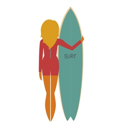Beautiful surfer vector image vector image