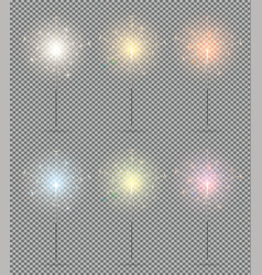 bengal lights set christmas sparkler isolated on vector image vector image