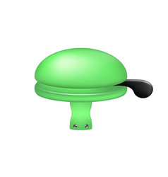 bicycle bell in green design vector image vector image