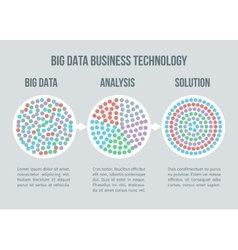 Big data concept Business analytics vector image