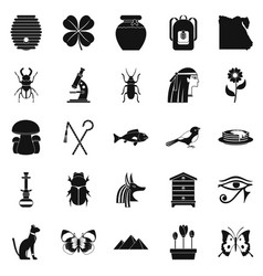 Bug icons set simple style vector