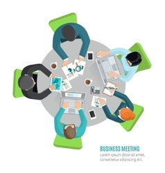 Business Meeting Flat vector image