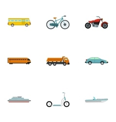 Car service icons set flat style vector image