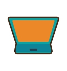 cartoon shopping online laptop digital vector image