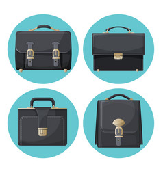 collection of briefcases businessman accessories vector image vector image