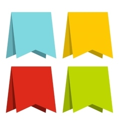 Color pennants icon flat style vector