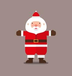 Cute big fat santa claus flat design vector